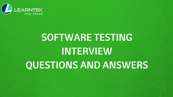 Software Testing Interview Questions
