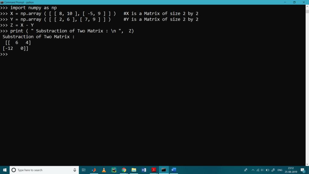 Matrix Operations Num-7