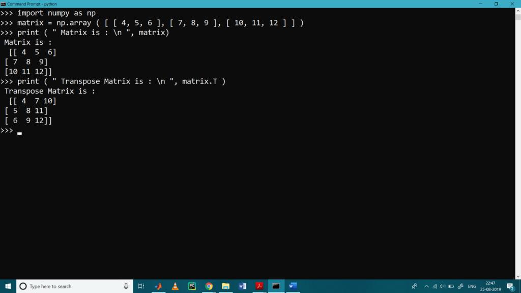 Matrix Operations Num-9