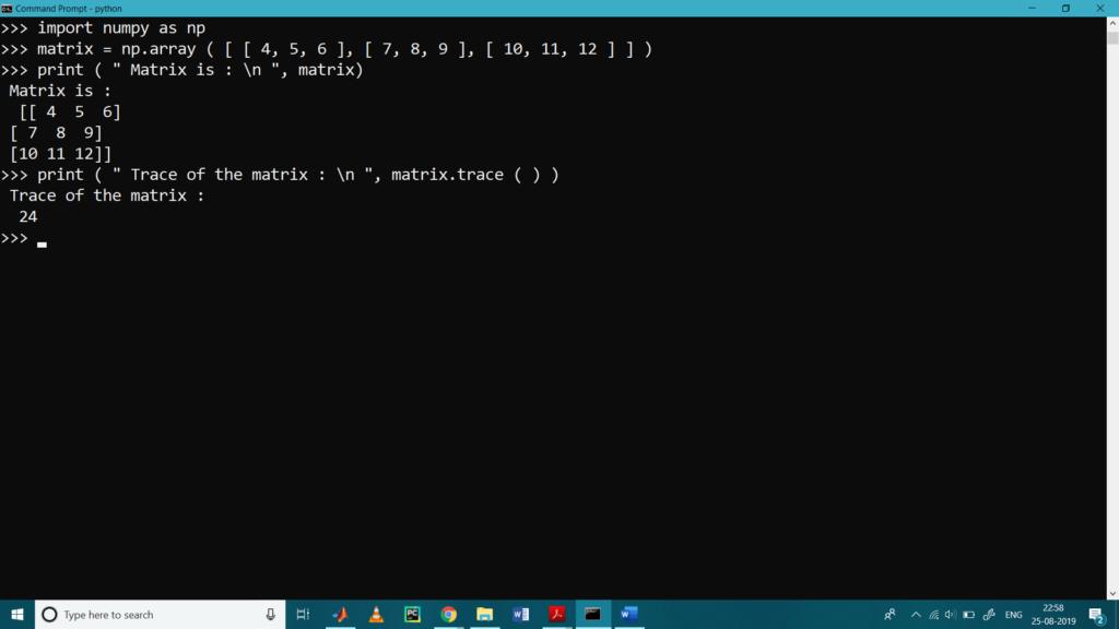 Matrix Operations with Python NumPy1