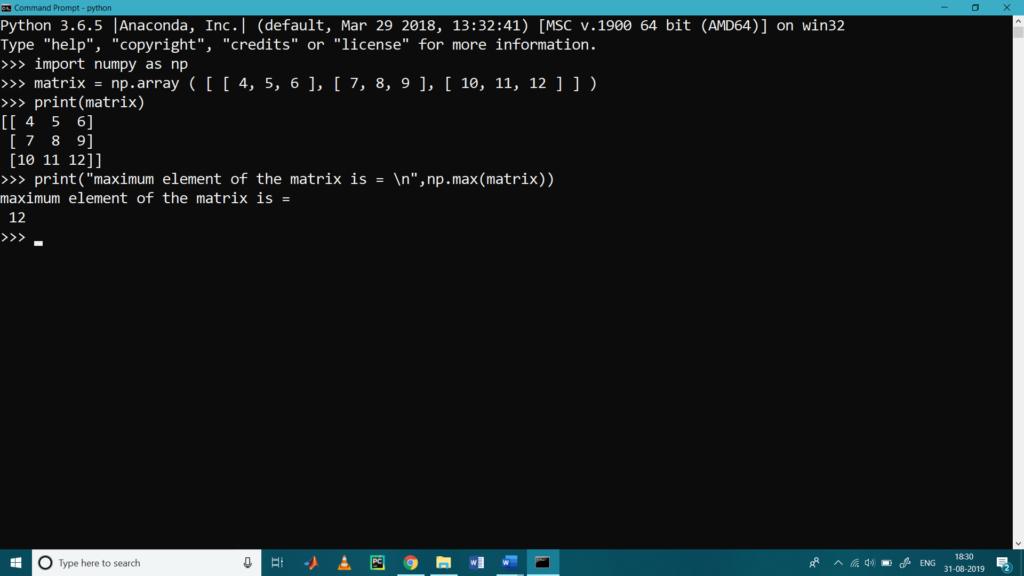 Matrix Operations with Python NumPy2