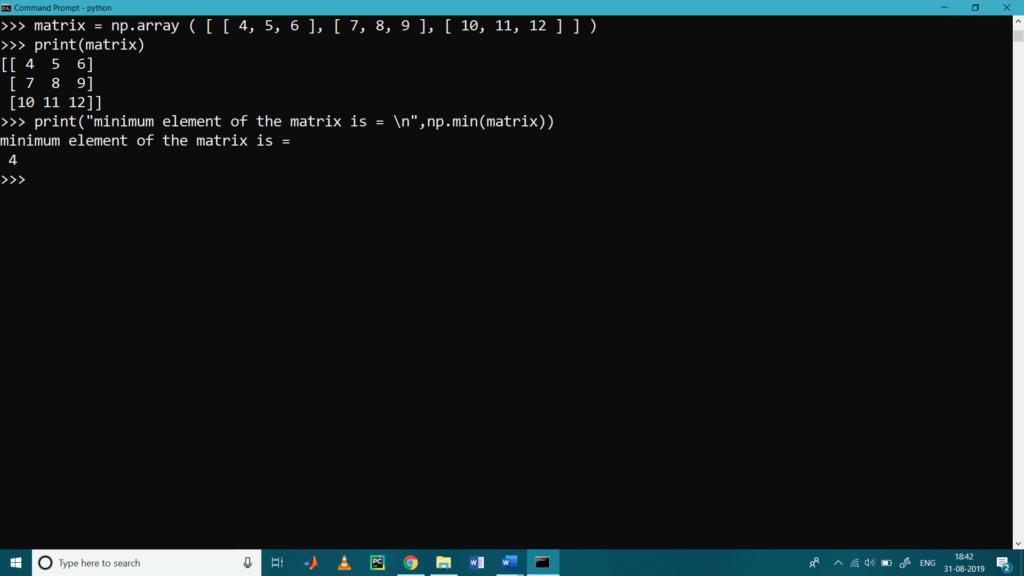 Matrix Operations with Python NumPy3