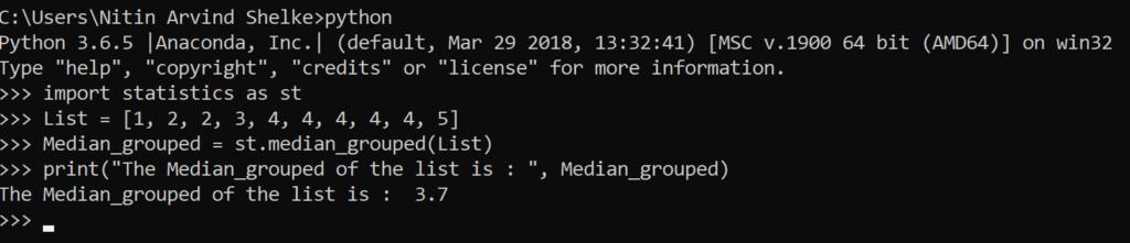 Python Statistics 5