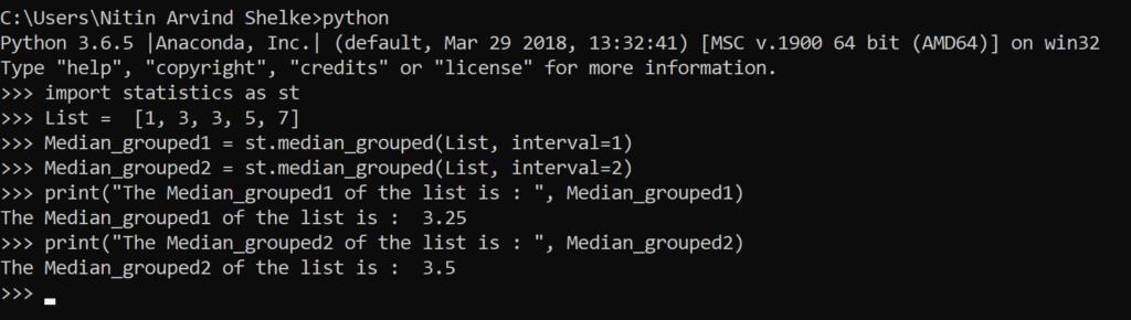 Python Statistics 6
