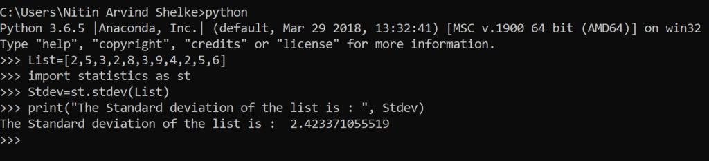 Python Statistics 9