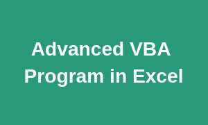 Advanced Excel VBA Training