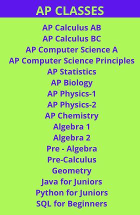 AP CLASSES Online