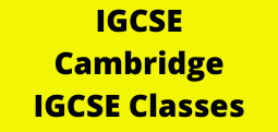IGCSE - Cambridge IGCSE Classes