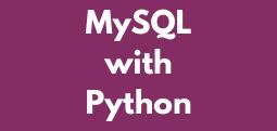 MySQL with Python