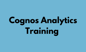 Cognos Analytics Training